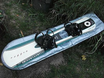 Snowboard by Ocean Earth oxygen XE-50 good usable condition + boots + bag