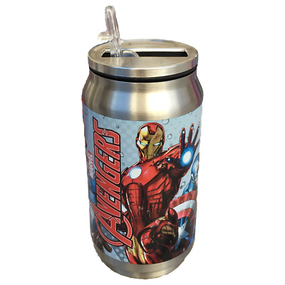 Borraccia Lattina Termica Avengers Marvel Sport Con Beccuccio 250 Ml. - Mv15168/