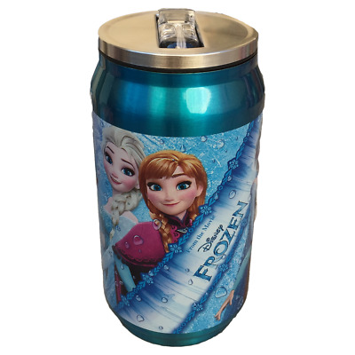 Borraccia Lattina Termica Frozen Elsa Anna Con Cannuccia 250 Ml. - Wd17758/2