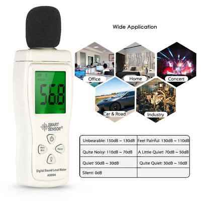 SMART SENSOR Sound Level Meter 30dB-130dB Noise Tester DB Decibel Level Meter