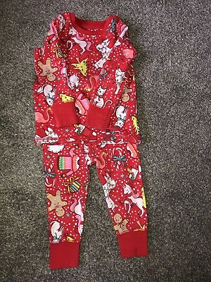 Next 'snuggle fit' Christmas Pyjamas Age 9-12 Months
