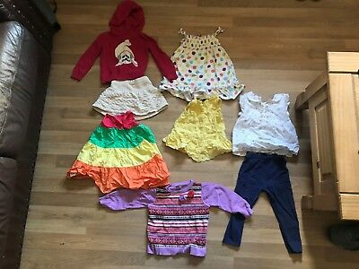 Joblot Bundle of 8 Items of Girls Kids Clothes for Ages 1 1/2 Years to 2 Years