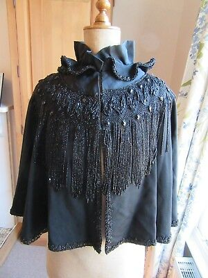 Victorian Beaded Mourning Cape