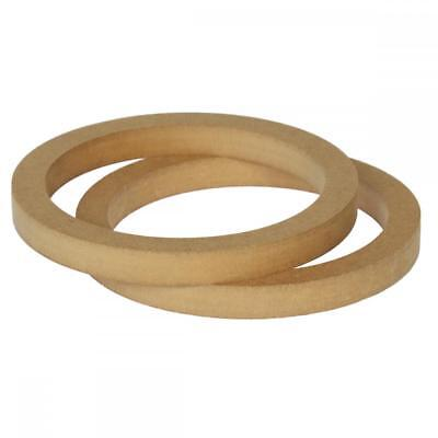"6.5"" 165mm Pair of MDF Speaker Spacer Mounting Rings 18mm Thick ID 144mm"