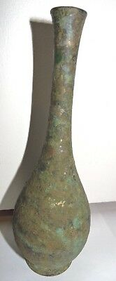 Antique UNKNOWN Maker Copper Brass Mounted Metal Bottle Vase VERY OLD