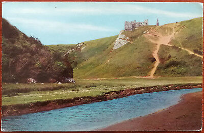 Pennard Castle from the Estuary, Gower Peninsula. Post Card