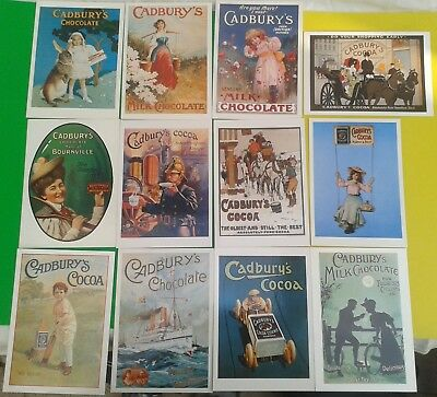 Collection of 12 Mumbles Railway Postcards Advertising Cadbury's Chocolate/Cocoa