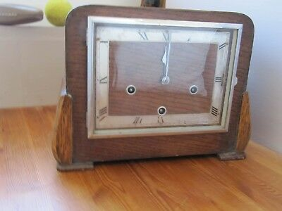 Vintage SMITHS 8 Day Enfield Westminster Chime Mantel Clock With Key