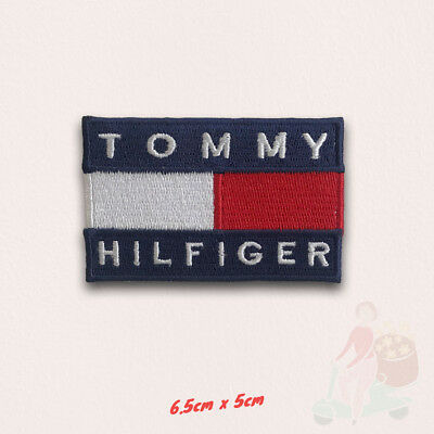 Tommy Hilfiger fashion brand Logo Iron on Sew on Embroidered patch applique