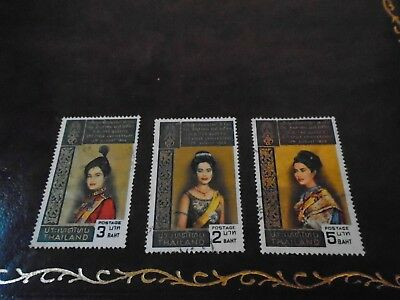 1968 Thailand Queen 3rd Cycle Anniversary Stamps - Lightly Used