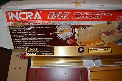 INCRA I-BOX for Box Joints - Owner's Manual and Stock Width Chart - NEW not used