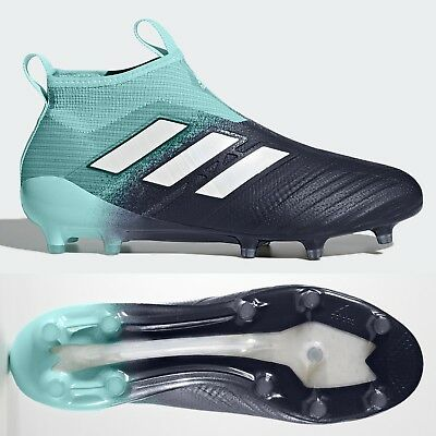 wholesale dealer 77141 53f1c ADIDAS ACE 17+ Purecontrol FG Football Boots Soccer Cleats Aqua Laceless  Size 10