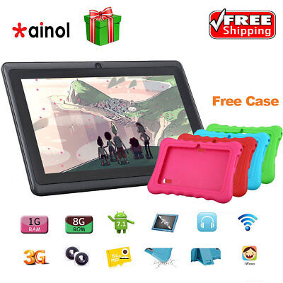 """7"""" Kid Tablet PC Android 7.1 8GB/16GB Quad Core External 3G WIFI 2*Cam Xmas Gift"""