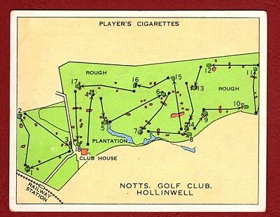 JOHN PLAYER 1936 CHAMPIONSHIP GOLF COURSE  Card No 19  NOTTS , HOLLINWELL