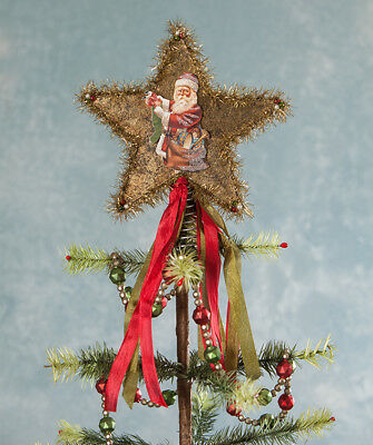 """BETHANY LOWE VINTAGE ANTIQUE INSPIRED STAR TREE TOPPER 9"""" x 8"""" BRAND NEW"""
