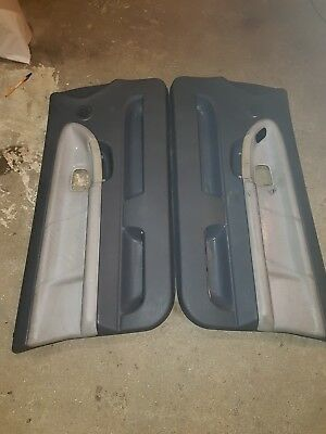 BMW E36  coupe convertible  Door cards leather  Gray grey