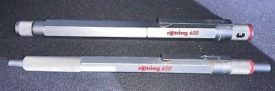 Rare rOtring 600 Ballpoint Pen & Fountain Pen with knurled grip~Free Shipping