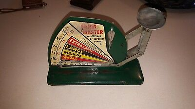 Antique Farm Master Egg Scale Green Vintage