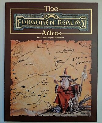 ADD THE FORGOTTEN REALMS ATLAS - Advanced Dungeons & Dragons TSR 8442 1990 ENG