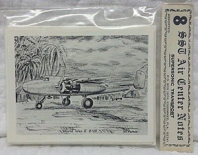 AIRCRAFT AVIATION WWII B25 Supersonic Transport Air Center Notes vintage