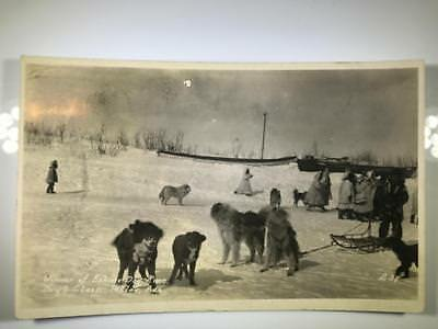 "Early RPPC Native American Postcard ""Winner of Eskimo Dog Race"" Teller Alaska"