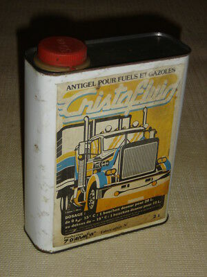 .Ancien Bidon 2L d'Antigel Fuels et Gazoles CRISTAFLUID