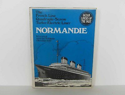 """Ocean Liners of the Past NORMANDIE #5 Reprints from """"The Shipbuilder"""" 1972 NYGS"""
