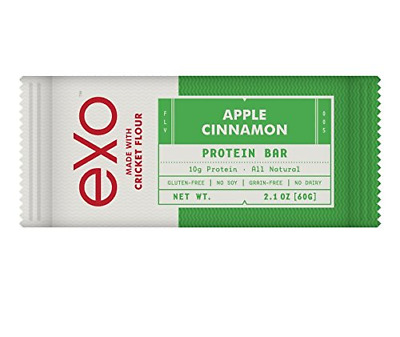Exo Cricket Flour Protein Bars, Apple Cinnamon, 12 Count