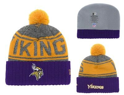 NEW ERA MEN S NFL Minnesota Vikings On-Field Sideline Knit Beanie ... a0b5c63fb