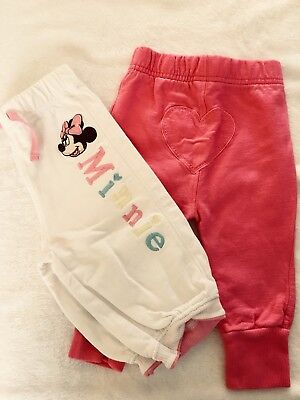 Pretty Girls White & Pink Trousers 3-6 Months Minnie Mouse