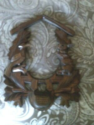 Used Cuckoo Clock Parts: Hunter's   Frame... Good Condition...