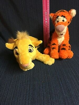 Simba & Tigger Bean 9in Soft Plush Toy Disney Store Parks Winnie Pooh Lion King