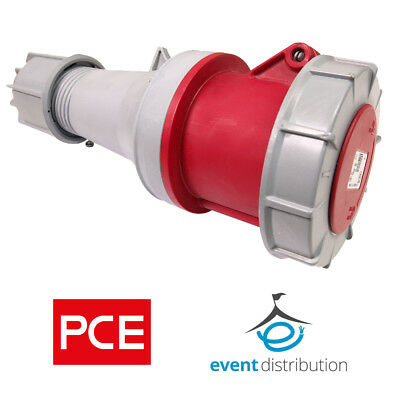 PCE 63 AMP 3P+N+E 415V IP67 Rated Trailing Socket 5 Pin 63A Waterproof 3 Phase