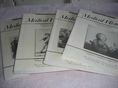 MEDICAL HISTORY; QUARTERLY JOURNAL x 4. 1995.  RESEARCH+REFERENCE.