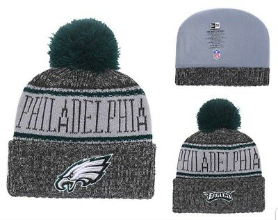 2018 Philadelphia Eagles New Era Knit Hat On Field Sideline Beanie Stocking  Cap 0eec6b2339f6