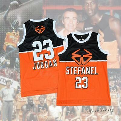 1985 Stefanel Trieste Michael Jordan 23 Exhibition Game Basketball Jersey
