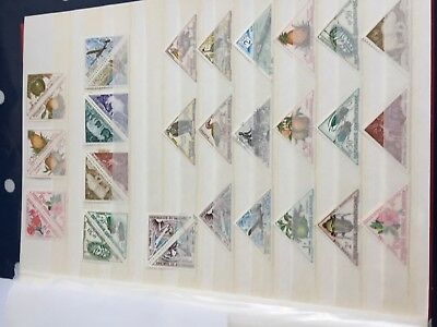 Africa French Colonies triangular stamps mint/used incl better & rarer values