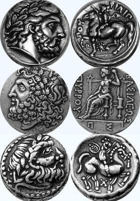 Zeus King of the Gods 3 Greek Coins Percy Jackson Fans Greek Mythology (3Zeus-S)