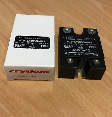 Crydom D2425-10 Solid State Relay 25A 3-32VDC brand new, unopened box.