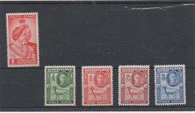 SOMALILAND. GV1. SG119,105,106,107,108. Mounted Mint - see description.