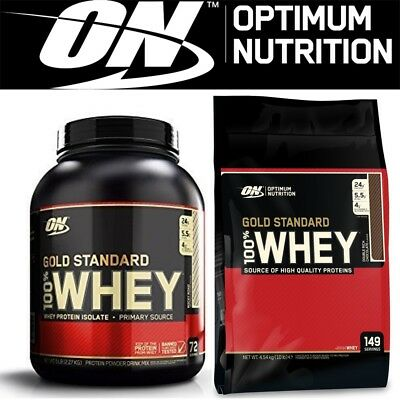 Optimum Nutrition 100% Gold Standard Whey Protein Powder - All Sizes & Flavours