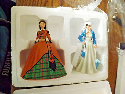 Gone With the Wind ~ Plaid Business Gown Lumber Mill Bradford Exchange Figurines