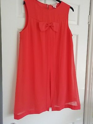Ted Baker Bright Coral Orange Swing Dress Size 4