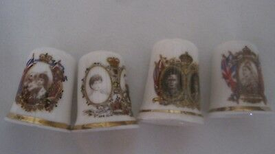 Thimbles, All Bone China, From English Estate Sale. Vintage Royalty