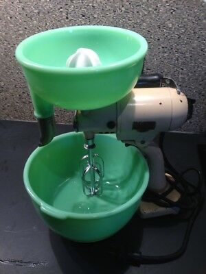 Vintage Sunbeam Mixmaster Model 1 Mixer WORKING Rare 1930s w/bowl/beaters/juicer