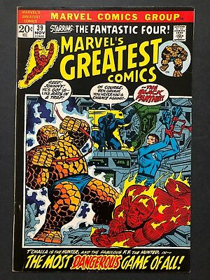 Marvel's Greatest Comics #39 (Nov 1972, Marvel) FANTASTIC FOUR & BLACK PANTHER