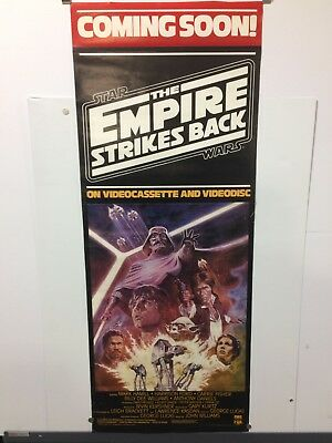Vintage STAR WARS THE EMPIRE STRIKES BACK CBS/FOX VHS Video Store Poster 58 x 23