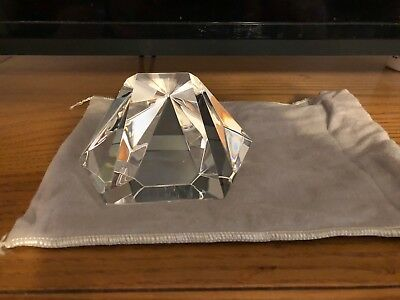 Steuben Star Crystal Prism 8076  Paperweight With Dust Bag.Near Mint. Must See