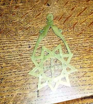 Antique Masonic early Victorian  Royal Order of Scotland green baldrick jewel