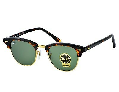cec724c3b1 Ray-Ban RB 3016 Clubmaster W0366 Tortoise Acetate Frame Green Classic G-15